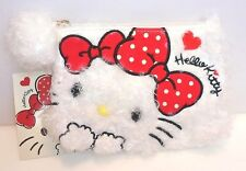 【Hello kitty】Fluffy Pouch with Bon Bon White SANRIO JAPAN