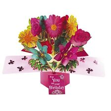 Birthday Flowers For You Pop-Up Greeting Card Second Nature 3D Pop Up Cards