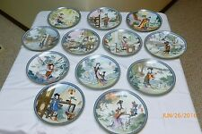 Beauties of the Red Mansion Chinese 12 Plate Collection Imperial Jingdezhen