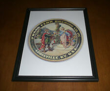 FRANK FEHR BREWING CO. FRAMED COLOR AD PRINT - LOUISVILLE, KENTUCKY