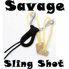 Heavy Duty Savage Sling Shot Hunting Metal Rubber Hard Powerful with BBs