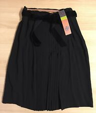NWT Tory Burch Georgina Black 100% Silk Skirt-Size 4-$395