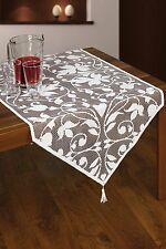 "White, lace tablecloth / table runner novelty  NEW 60 x 145 cm (24"" x 57"")"