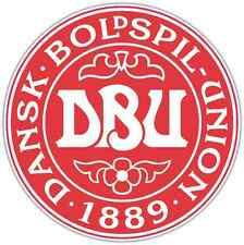 "Danish Football Association Denmark Soccer Car Bumper Sticker Decal 4.6""X4.6"""