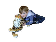 "Realistic Large Medium Leopard Stuffed Soft Toy 100cm 40"" Lifelike Plush Deluxe"