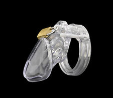 Clear Small Male Chastity Device Belt With Brass Lock & Locking Number TagA154-1