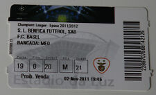 Ticket for collectors CL Benfica Lisboa FC Basel 2011 Portugal Switzerland