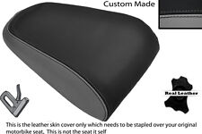 GREY & BLACK CUSTOM FITS YAMAHA MT 03 06-13 REAR LEATHER SEAT COVER