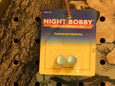 Night Bobby Lighted Fishing Float Replacement Batteries 1.5 Volts Each 2-Pack