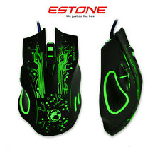 2400DPI 8D ESTONE X9 Optical 6 Buttons Usb Wired PC Gaming Mouse WOW LOL CF MMO