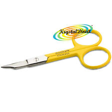Manicare Nail Scissors With Pouch YELLOW Stainless Steel Non Rusting