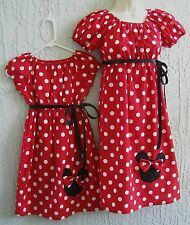 Halloween Custom Mother/ Daughter Dress Minnie Mouse70's Inspired Red Sz: S M L