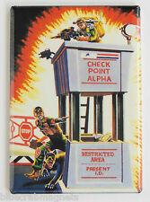 G.I. Joe Checkpoint Alpha FRIDGE MAGNET (2.5 x 3.5 inches) real american hero