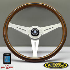 Nardi Steering Wheel ND CLASSIC WOOD Grain Satin Spokes 390mm 5051.39.6300