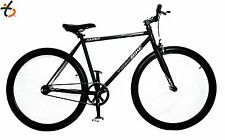 MATT BLACK TRAKBIKE FIXIPRO Single Speed Fixed Gear Fixie Bicycle Bike 10.5KG