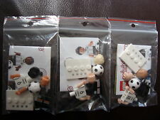 Lego Mini Figures 71014 (Football) 3 Players (no. 6+9+18) but not