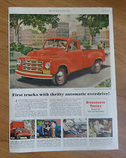 1950 Studebaker Pickup Trucks Ad 1/2 Ton 6 1/2 Foot Pickup