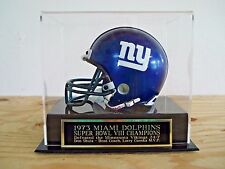 Football Mini Helmet Display Case With A Miami Dolphins Super Bowl 8 Nameplate