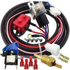 UNIVERSAL THERMO ELECTRIC COOLING FAN HIGH AMP RELAY SYSTEM & HARNESS 40amp