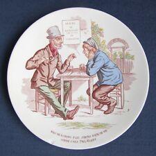 Assiette Lentille Polychrome Parlante Les Buveurs 9 Faïence de Sarreguemines U&C