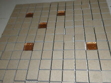 SMALL LOOSE CERAMIC MOSAIC TILES LEFT OVER FROM A PROJECT.BRAND NEW