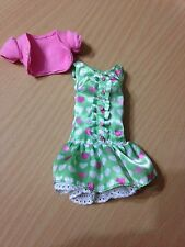 Barbie Collector Doll Model Muse Hello Kitty Sanrio My Melody Green Ruffle Dress