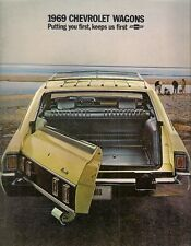 Chevrolet Wagons 1969 USA Market Sales Brochure Kingswood Townsman Concours