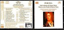 CD 1347  PURCELL  FULL ANTHEMS E ORGAN MUSIC