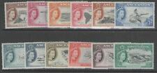ASCENSION SG57/68 1956 DEFINITIVE SET TO 5/= MTD MINT