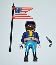 36171 Buffalo Soldier, 9th/10th US cavalry ACW 1870 Abanderado CUSTOM playmobil