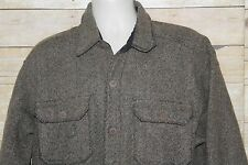VTG Woolrich Jacket Mens Size Large Brown Wool Blend Button Front Field Coat D16