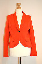 LADIES DESIGNER BODEN ELEGANT ORANGE BLAZER JACKET COAT UK12R VGC