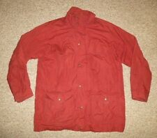 EDDIE BAUER Red Wool-Lined MOUNTAIN PARKA Jacket Coat Size Men's LARGE TALL LT