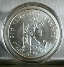 Sic Semper Tyrannis 1 oz .999 Silver Shield Early Strikes Limited Debt and Death