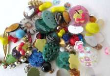 Vintage Treasures Mixed Lot Assortment Beads Rhinestones Cabochons Findings