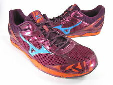 MIZUNO MEN'S WAVE MUSHA 4 RUNNING SHOE EMBER/FLOURITE/RED PLUM US SIZE 13 MEDIUM