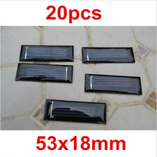 20pcs 0.5V 100mAh 53X18mm Micro Mini Power Small Solar Cell For DIY Panel Light
