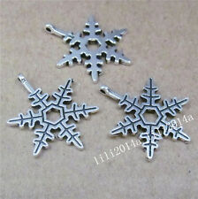 20pc Charms Christmas Snowflake Pendant Beads Accessories Wholesale PL846