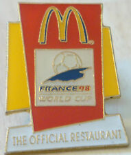 Macdonalds coupe du monde 1998 en france insigne stud fitting 23mm x 30mm