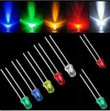 3mm White Green Red Blue Yellow LED Light Bulb Emitting Diode Lamps 100pcs EY07
