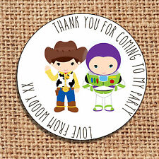 cowboy Party bag stickers 24 thank you for coming sweet cone labels toy story