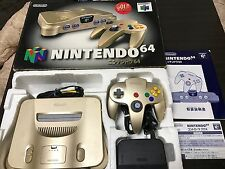 Nintendo 64 Console System GOLD Limited Edition JAPAN NTSC-J