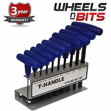 HEAVY DUTY 10PC METRIC 2-10MM T HANDLE ALLEN KEY ALLAN HEX KEY WRENCH T BAR SET