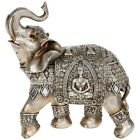 NEW Silver Buddha Elephant Foot Up 22cm Statue Ornament Figurine