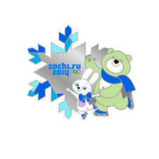 Sochi 2014 XXII Winter Olympic Games Pin Badge Mascots FIGURE SKATING EXTRA RARE