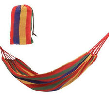 Portable Rope Outdoor Swing Camping Fabric Hanging Hammock Canvas Bed Garden