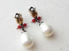 TURKISH JEWELRY OTTOMAN PEARL 925K STERLING SILVER HURREM SULTAN EARRINGS