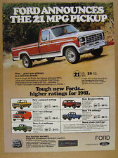 1981 Ford F150 F-150 RANGER pickup truck photo vintage print Ad