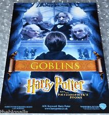Harry Potter 1st Film Cinema Promo Postcard GOBLINS