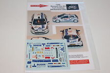 DECALS 1/43 RENAULT CLIO R3 AUDIRAC N°7 RALLYE D'ALLEMAGNE 2007 WRC RALLY